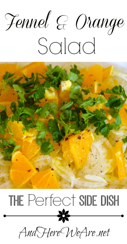 Fennel & Orange Salad The Perfect Side Dish  And Here We Are...