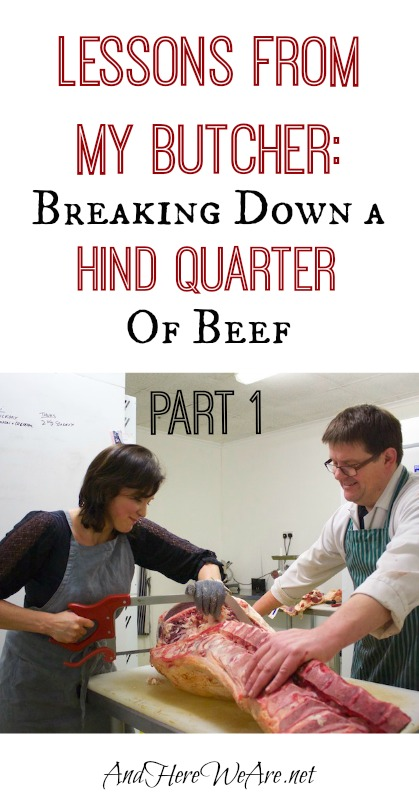 Lessons From My Butcher Breaking Down a Hind Quarter of Beef (Part 1)