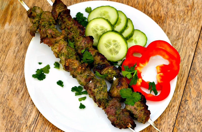Garlic and Herb Greek Lamb Kebabs