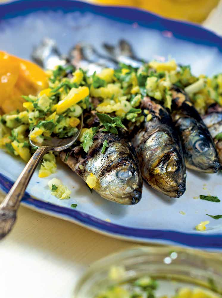 NKTN grilled sardines with preserved lemon gremolata image p 127