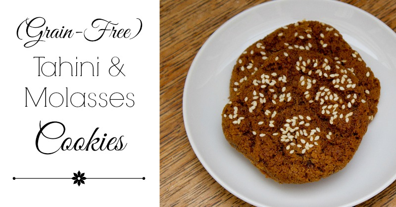 Tahini Molasses Cookies (Grain-Free)