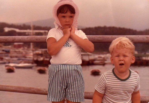 Me and My brother after a boat trip Loula Natural