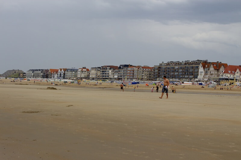 At the Beach in De Haan, Belgium