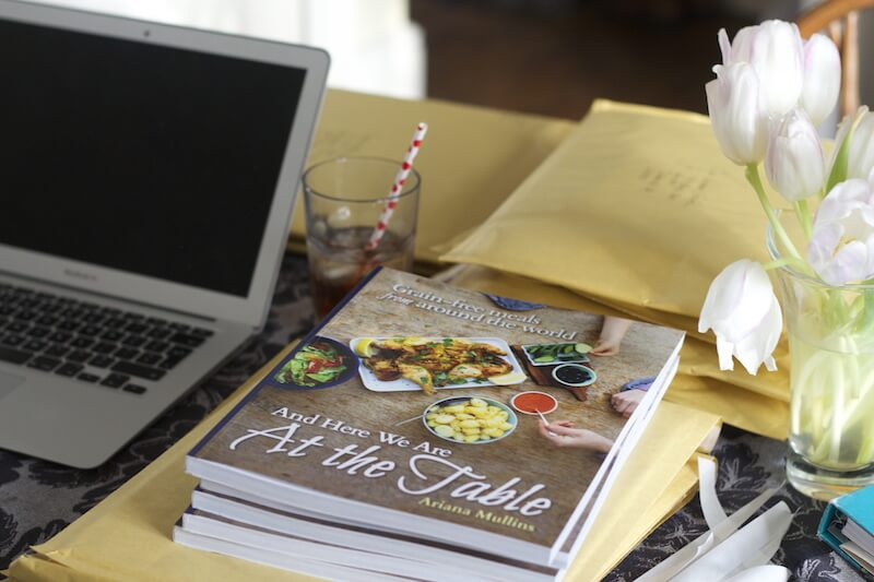Print versions of book at table