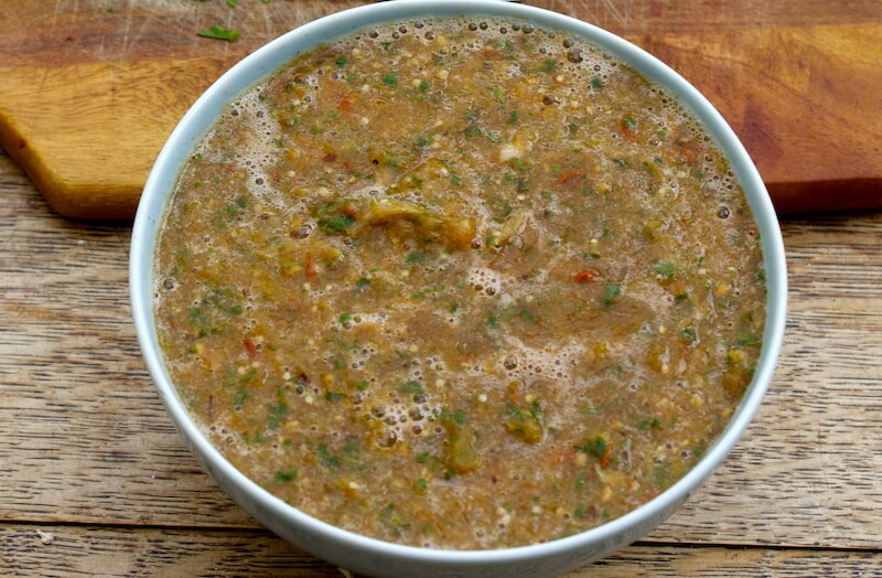 Roasted Tomatillo Salsa (Super Quick!)