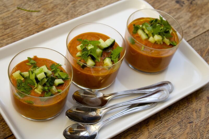 Roasted Pepper & Eggplant Gazpacho (Grain-Free)