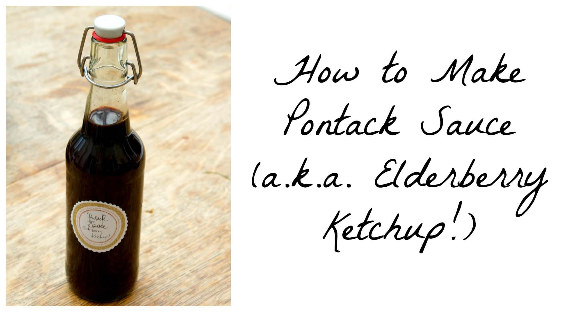 Making Pontack Sauce (Elderberry Ketchup)