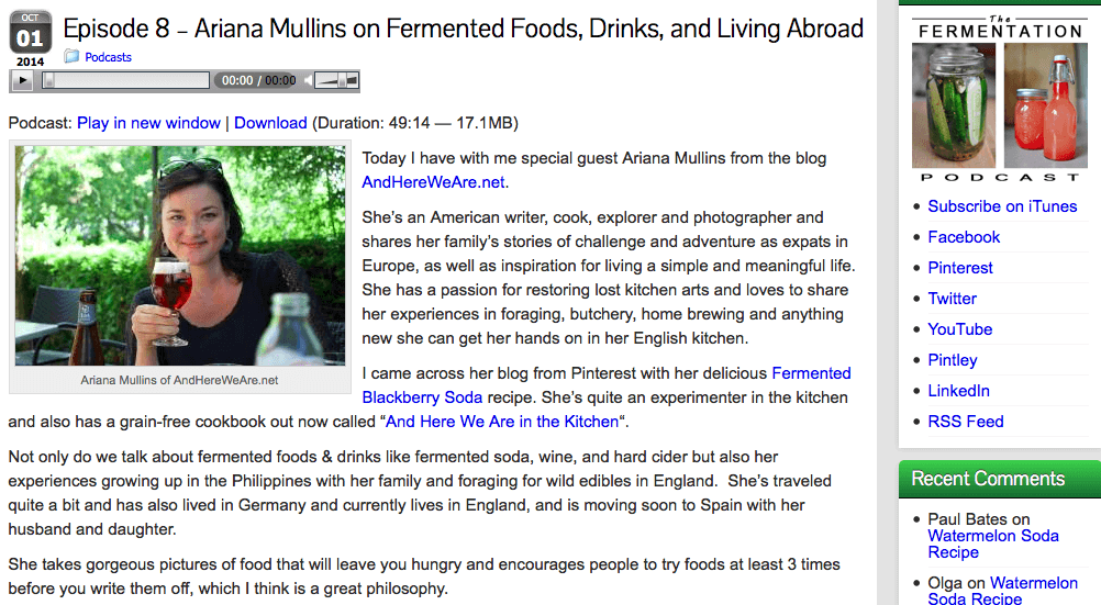 Talking About Fermentation