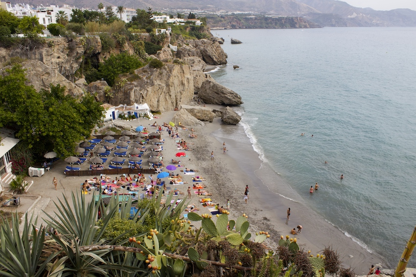 Beaches at Balcon de Europa, Nerja Spain